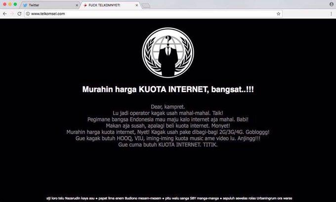 Situs Telkomsel Dihack ! Apa motifnya?